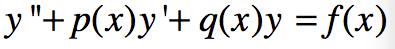 [第12集] 二阶非齐次方程